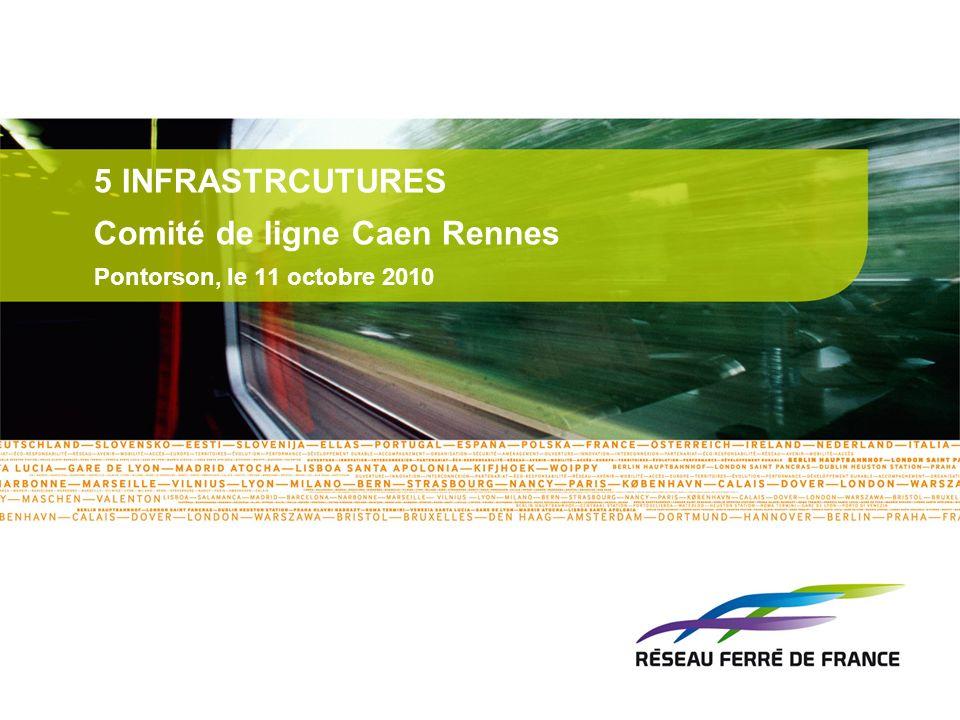 5 INFRASTRCUTURES Comité de ligne Caen Rennes Pontorson, le 11 octobre 2010