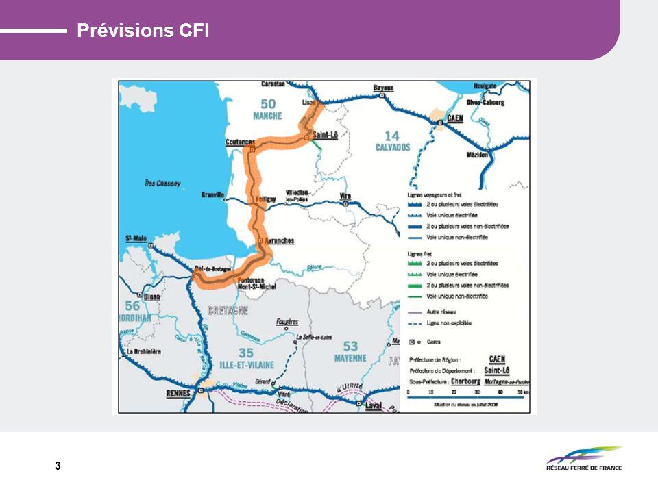 14 III - Opération Avranches Pontorson - Ralentissements Sur Avranches Pontorson : Maintien 100 km/h V1 et 70 km/h V2 (voie à rail double champignon) sous réserve des travaux de modernisation de la voie sur Avranches Pontorson en 2013 Sur Pontorson Dol : Ralentissement à venir fin 2010 sur la voie 2 (voie à rail double champignon) entre Pontorson et Dol à 60 km/h ( 40 km/h sur certaines parties).