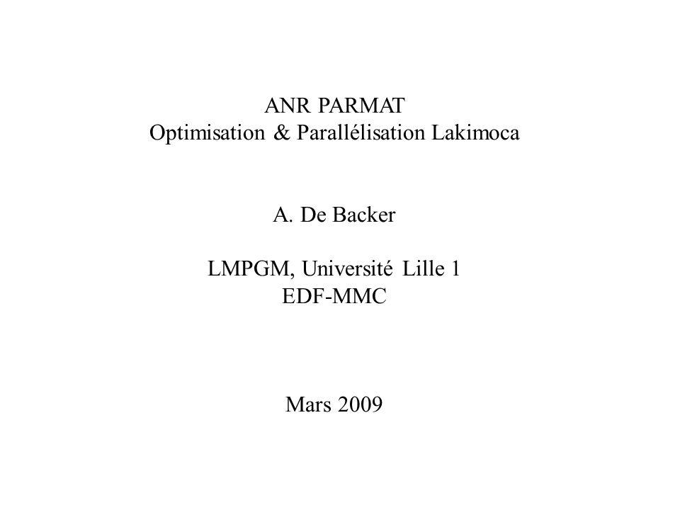 ANR PARMAT Optimisation & Parallélisation Lakimoca A.