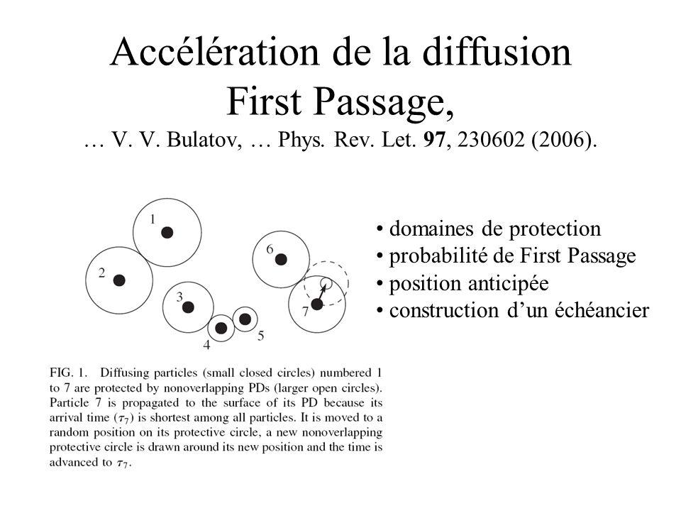 Accélération de la diffusion First Passage, … V. V.