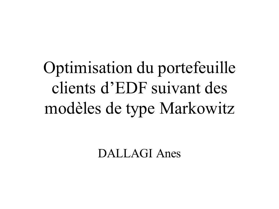Optimisation du portefeuille clients dEDF suivant des modèles de type Markowitz DALLAGI Anes