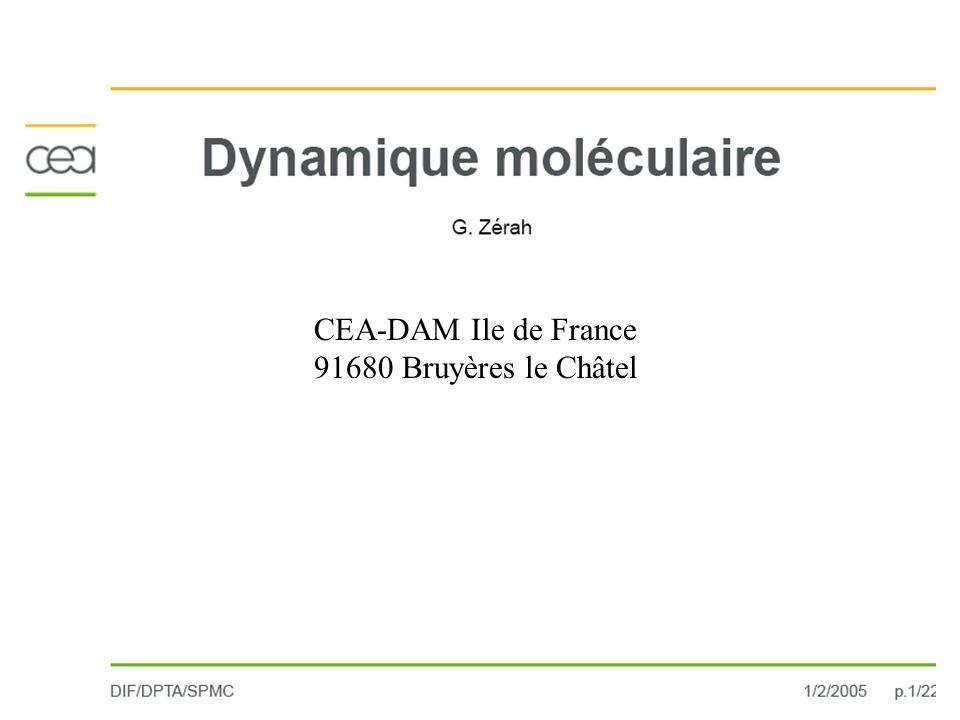 CEA-DAM Ile de France 91680 Bruyères le Châtel