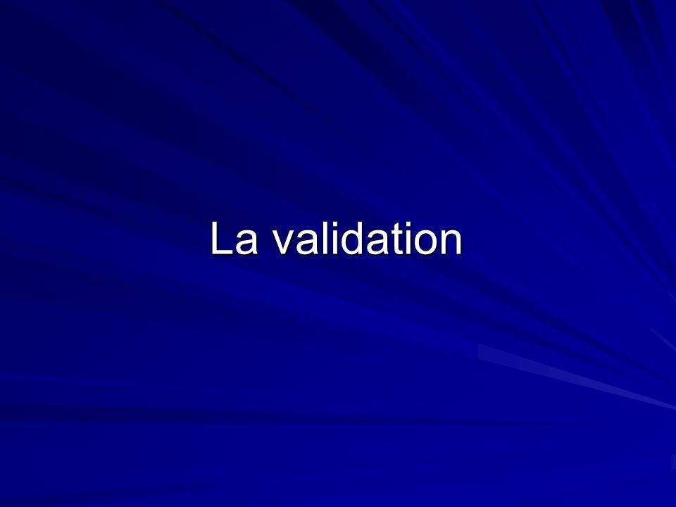 La validation1/1 La note dépend de la qualité : de la gestion du projet et de l acquisition des méthodes (collectivement et individuellement) du travail fourni et de latteinte des objectifs (collectivement et individuellement) du rapport de la soutenance Retour sommaire Une note est donnée à chaque élève par le tuteur et le jury Chapitre suivant