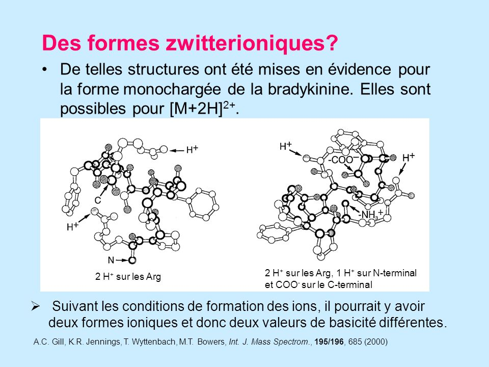 Des formes zwitterioniques.