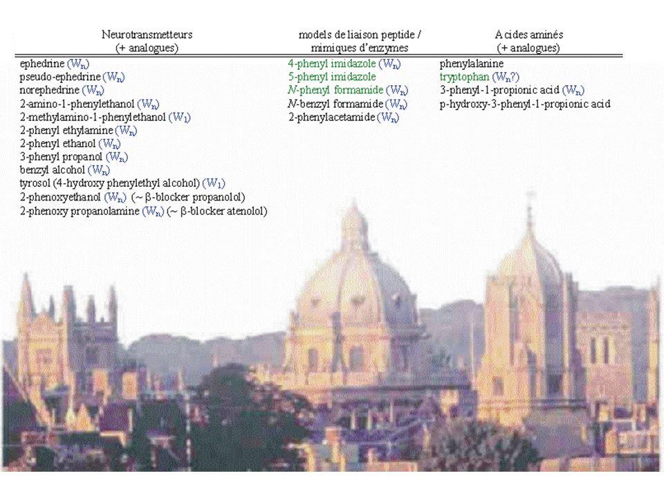 Problèmes Vaporisation: /chauffage /évaporation par désorption laser Flèxibilité/Multiples conformations: /faire le tri, /identifier les conformères, /trouver une recette pour les calculs Solvatation: /où vont les premières molécules deau.