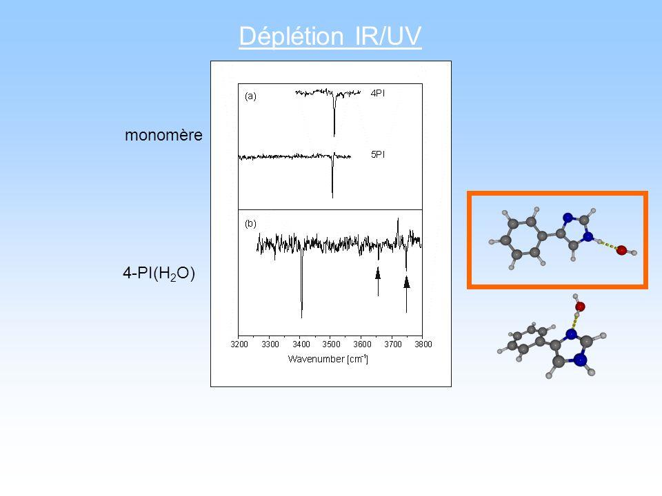 Déplétion IR/UV monomère 4-PI(H 2 O)