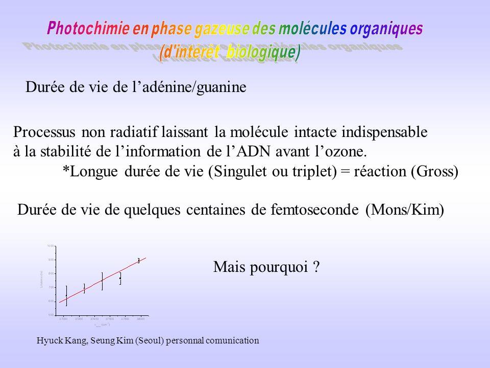 Les questions auxquelles il devrait être possible de répondre Quels sont les processus non radiatifs comment varient ils avec lenvironnement Quelle est la réactivité de ces molécules transfert de proton transfert délectron inversion des états (La/Lb) isomérisation transfert concerté e-/proton