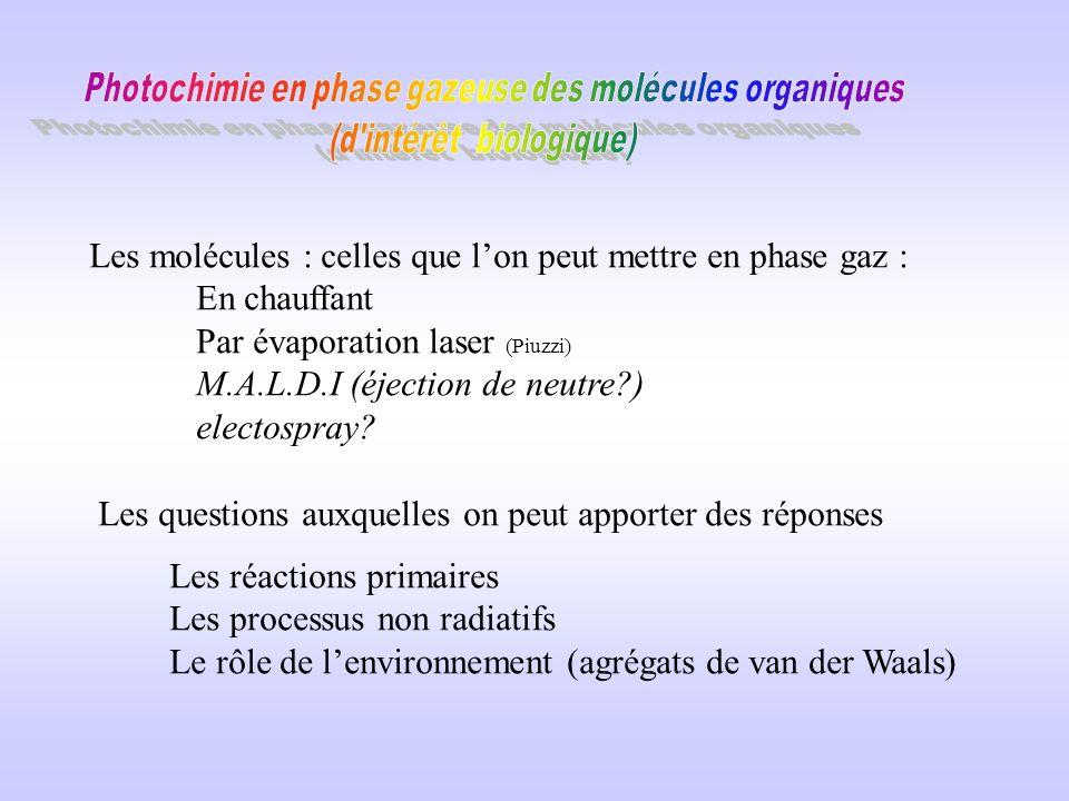 Transfert délectron, de proton, transitions non radiatives ….. dans les molécules dintérêt biologique Atelier sur les molécules biologiques à Paris-No