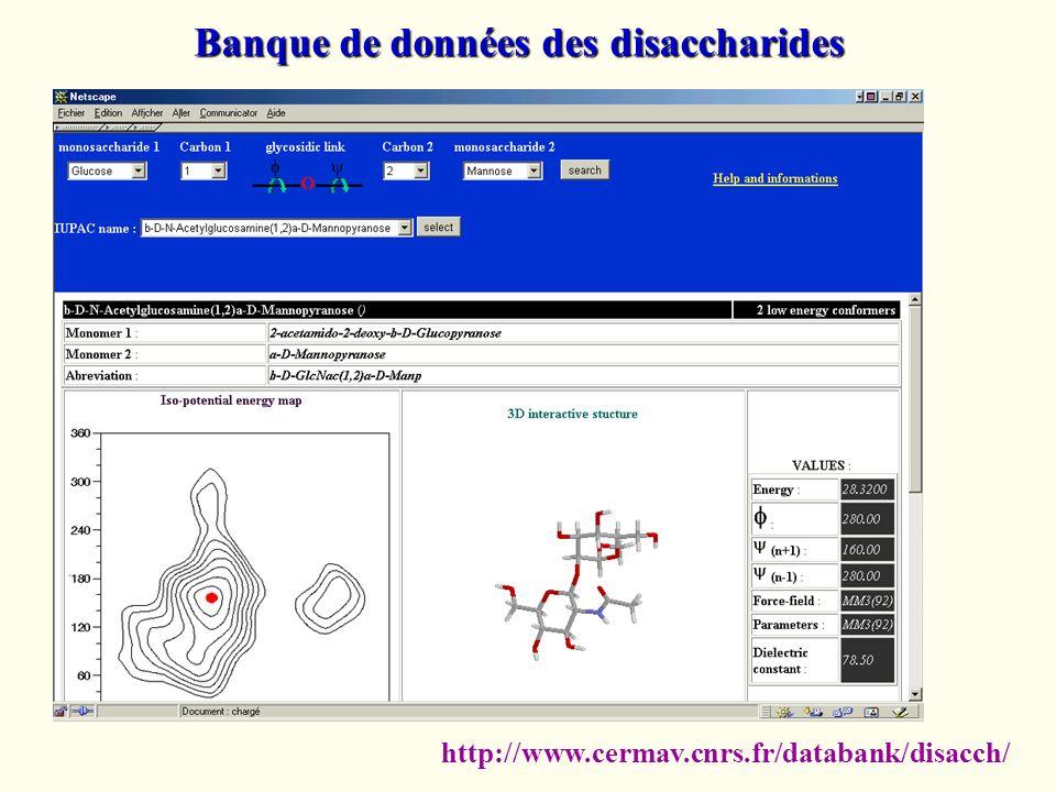 http://www.cermav.cnrs.fr/databank/disacch/ Banque de données des disaccharides