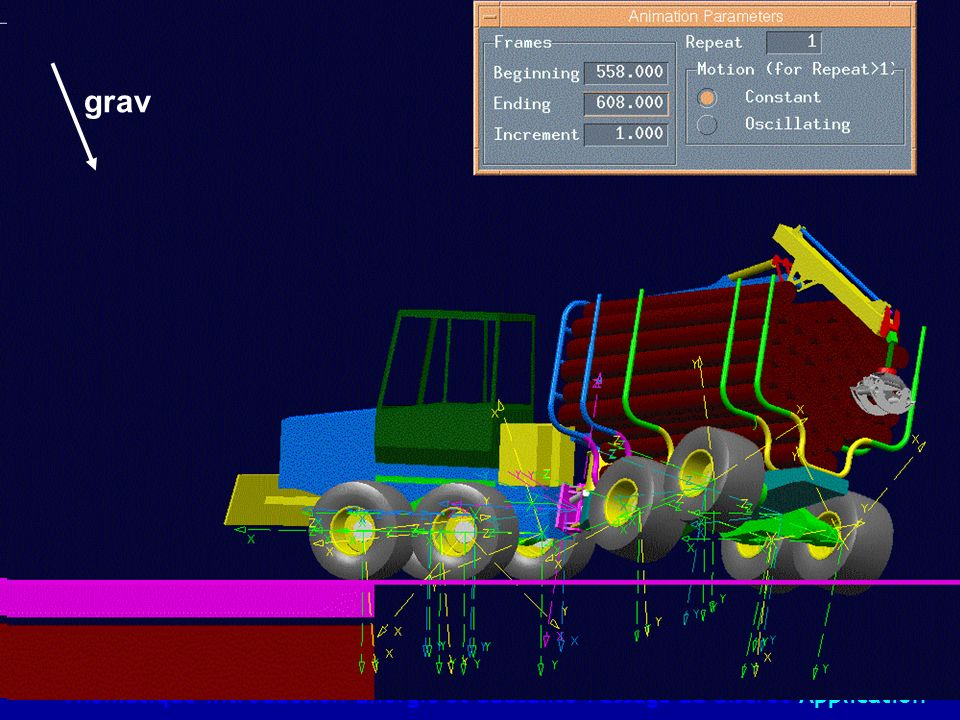 Simulation with commercial software Thématique-Introduction-Energie et Causalité-Passage au discret-Application grav