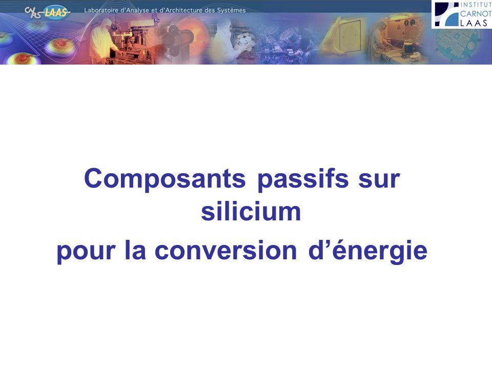 Composants passifs sur silicium pour la conversion dénergie