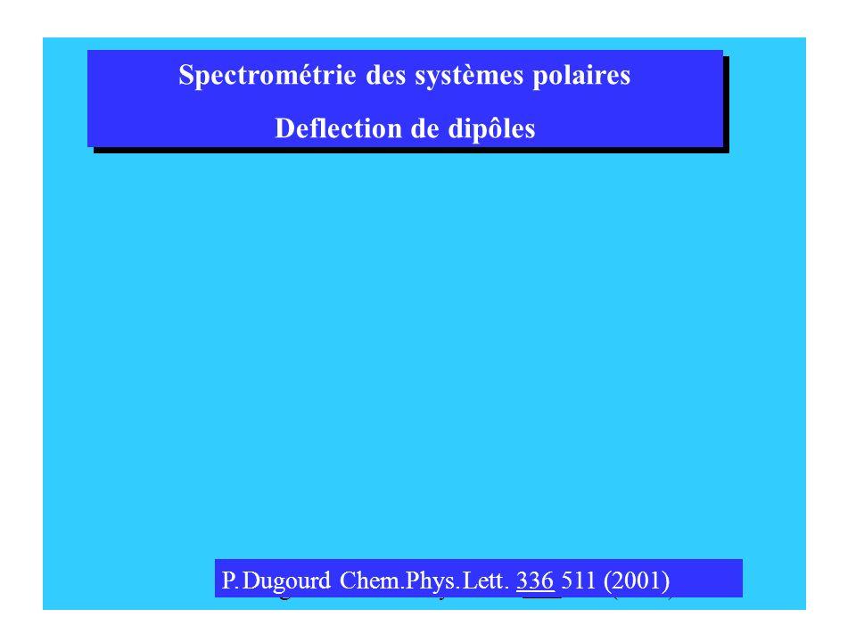 P.DugourdChem.Phys.Lett.336511 (2001) P.DugourdChem.Phys.Lett.336511 (2001) Spectrométrie des systèmes polaires Deflectionde dipôles Spectrométrie des