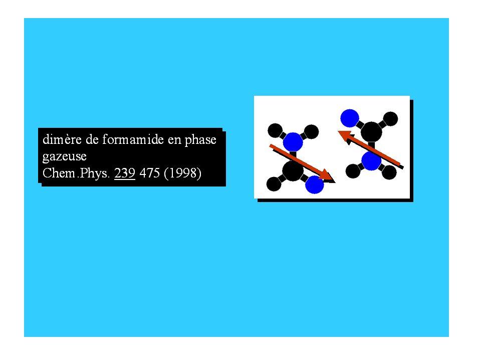 i i+1 i+2 i+3 i+4 Les liaisons C=O..N-H entre acides aminés adjacents(i )et (i+1 )ou plus éloignés(i )et (i+4)créent la structure secondaire des protéines Les liaisons C=O..N-H entre acides aminés adjacents(i )et (i+1 )ou plus éloignés(i )et (i+4)créent la structure secondaire des protéines Peut-on suivre lévolution temporelle des liaisons amides les unes par rapport aux autres ?interconversionentre les hélices et les hélices 3 10 Analogue optique de la RMN Peut-on suivre lévolution temporelle des liaisons amides les unes par rapport aux autres ?interconversionentre les hélices et les hélices 3 10 Analogue optique de la RMN I.Topol, JACS1236054 (2001)