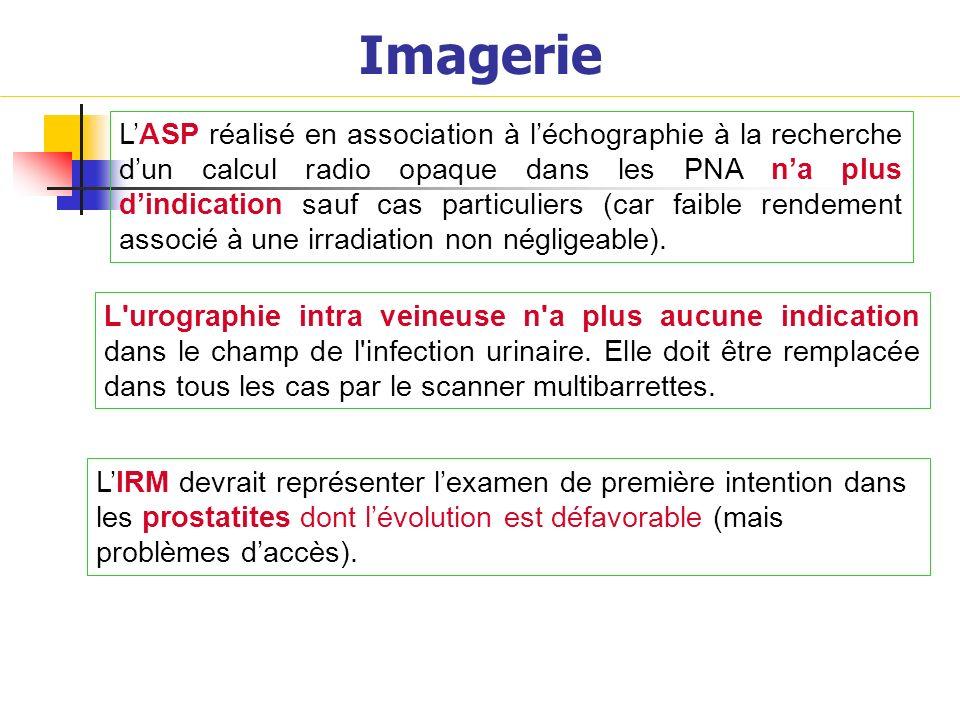 Imagerie LASP réalisé en association à léchographie à la recherche dun calcul radio opaque dans les PNA na plus dindication sauf cas particuliers (car
