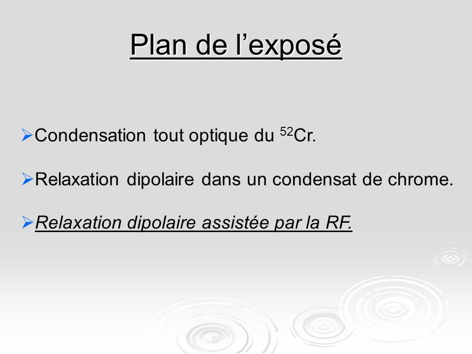 Plan de lexposé Condensation tout optique du 52 Cr.