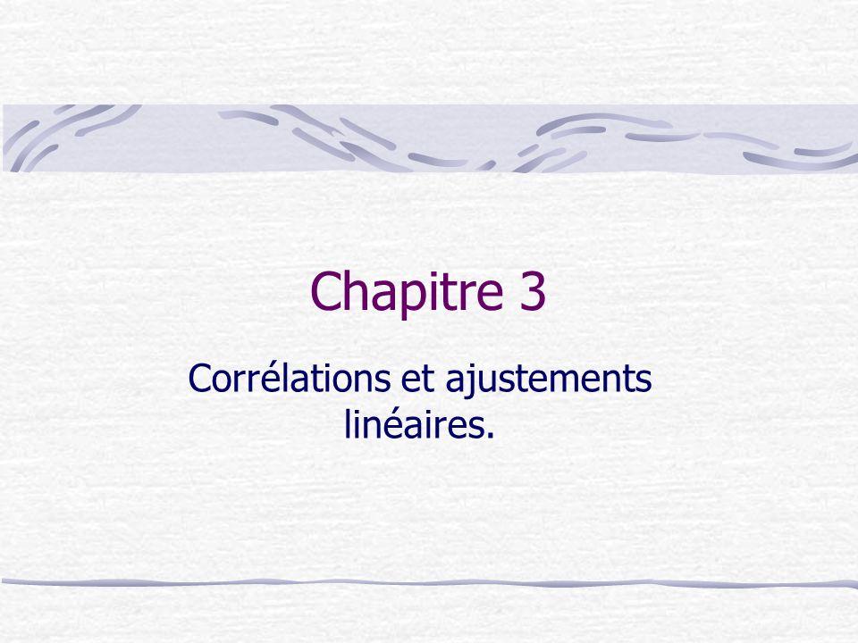 Chapitre 3 Corrélations et ajustements linéaires.