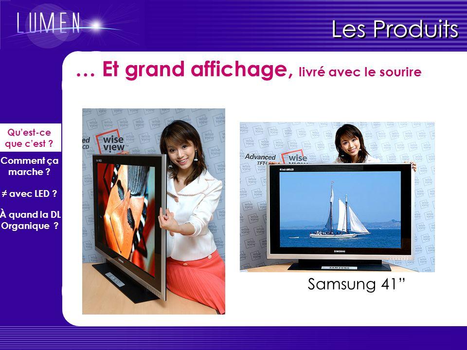 Les Produits Moyen affichage (prototypes) Sony 13 Quest-ce que cest ? Comment ça marche ? avec LED ? À quand la DL Organique ?