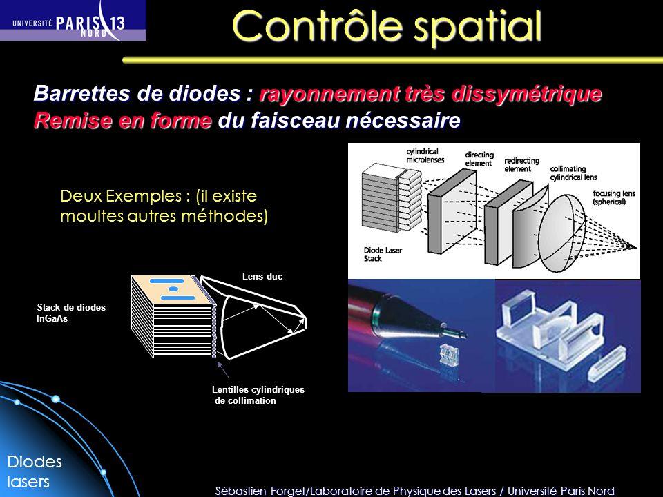 Sébastien Forget/Laboratoire de Physique des Lasers / Université Paris Nord Contrôle spatial Barrettes de diodes : rayonnement très dissymétrique Remi