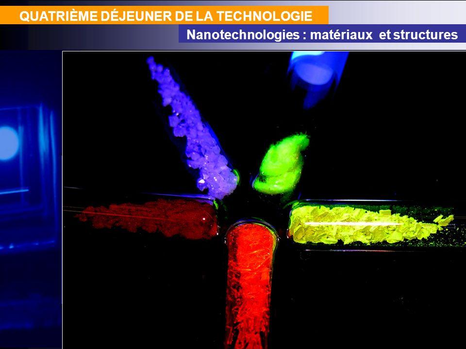 QUATRIÈME DÉJEUNER DE LA TECHNOLOGIE Nanotechnologies : matériaux et structures La filière organique offre une bibliothèque de matériaux beaucoup plus