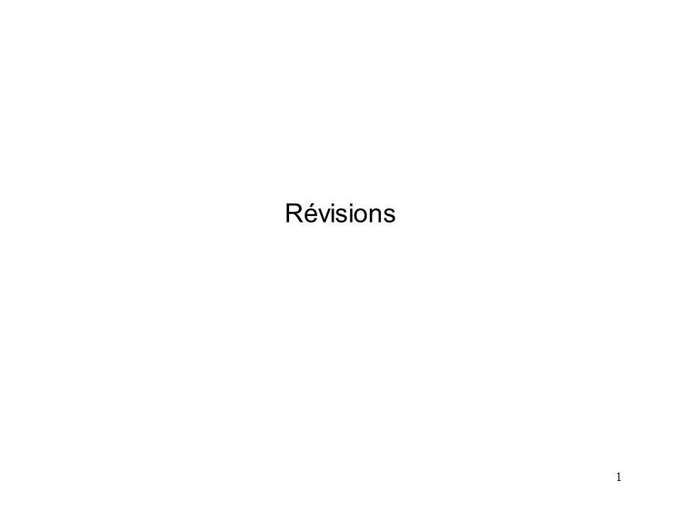 1 Révisions