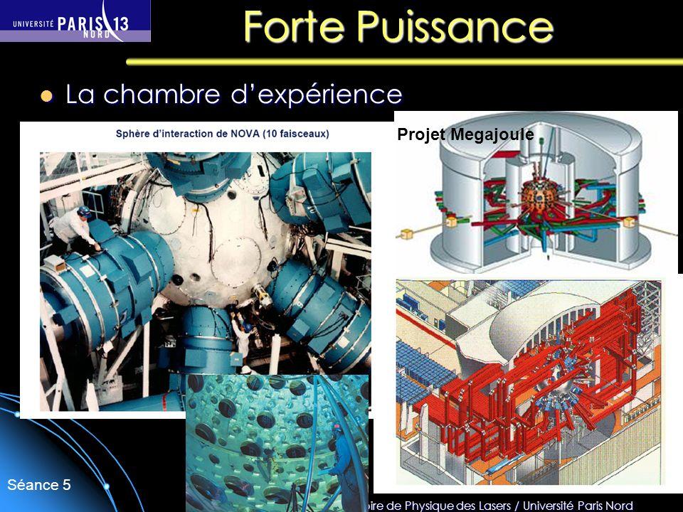 Sébastien Forget/Laboratoire de Physique des Lasers / Université Paris Nord Séance 5 Forte Puissance La chambre dexpérience La chambre dexpérience Pro