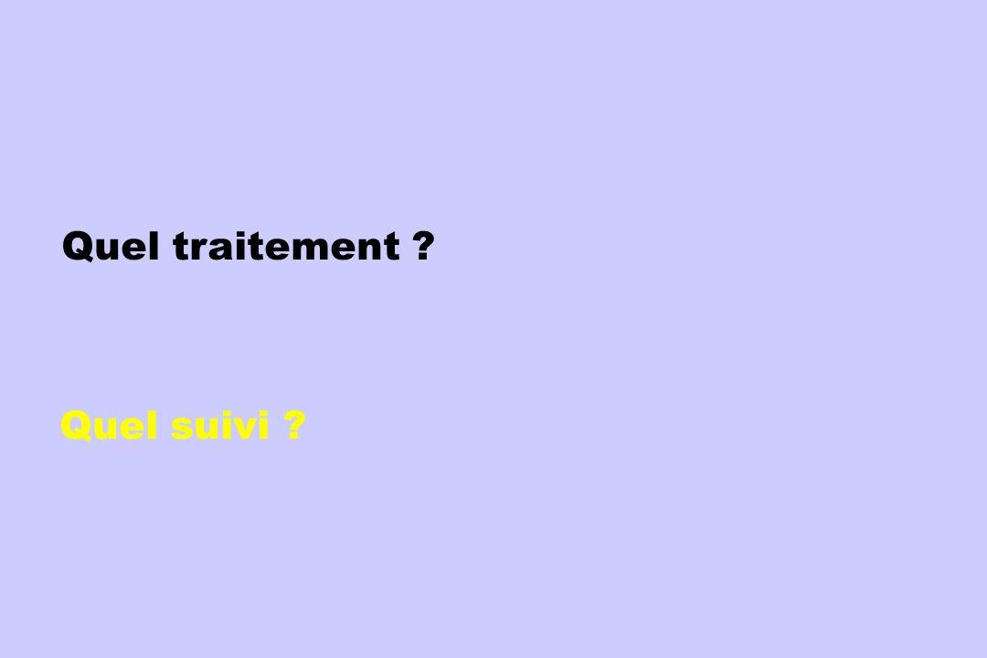 Quel traitement ? Quel suivi ?