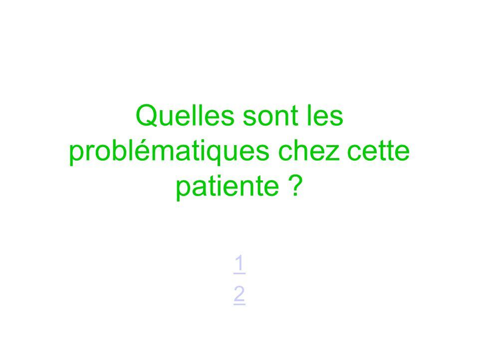 Quelles sont les problématiques chez cette patiente ? 1212