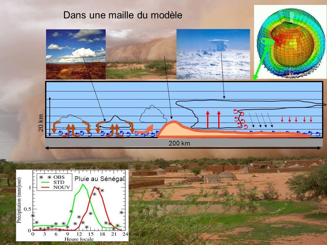 200 km 20 km Dans une maille du modèle Pluie au Sénégal