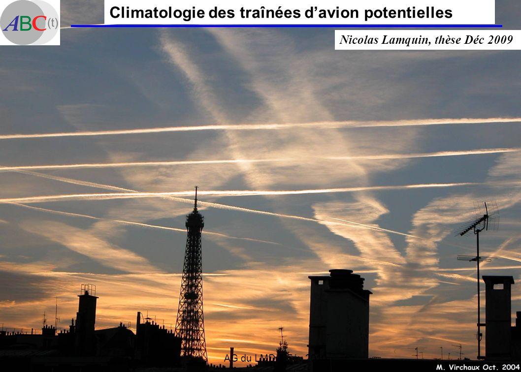 AG du LMD 9 Fév 2010 Climatologie des traînées davion potentielles Nicolas Lamquin, thèse Déc 2009