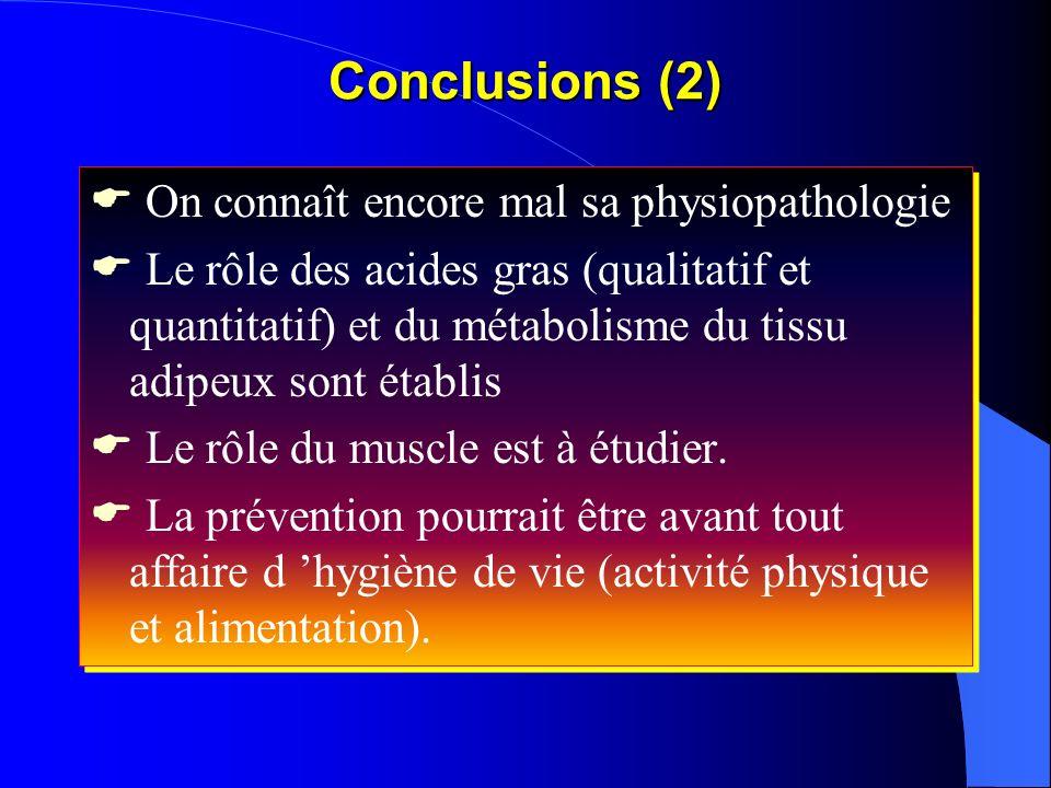 On connaît encore mal sa physiopathologie Le rôle des acides gras (qualitatif et quantitatif) et du métabolisme du tissu adipeux sont établis Le rôle