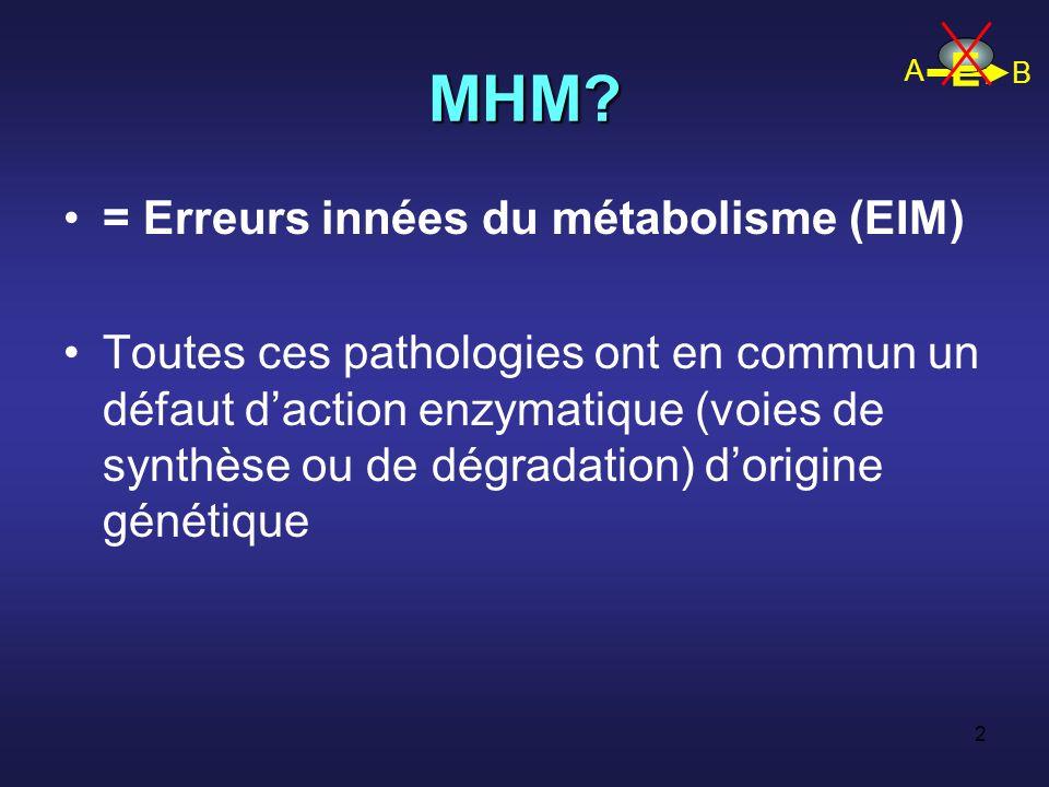1 Maladies héréditaires du métabolisme chez ladulte F Maillot Service de médecine interne et nutrition CHU de Tours