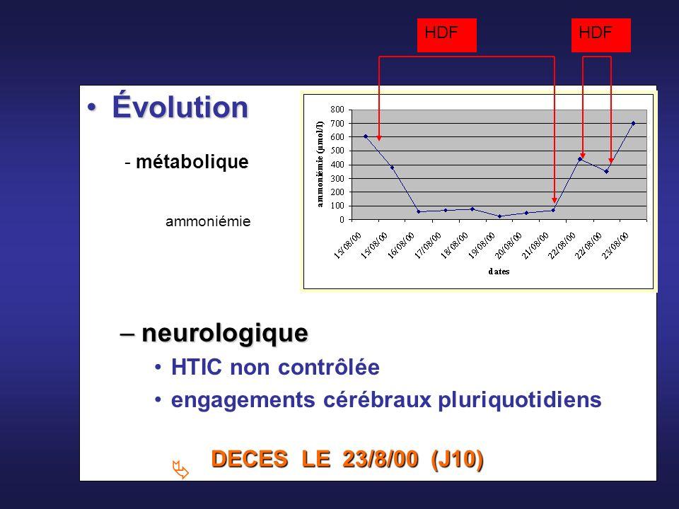 48 Traitement spécifique : nutrition hypercalorique aprotidique médicaments « épurateurs » HDF continue Traitement symptomatique Traitement symptomatique : état de mal épileptique œdème cérébral