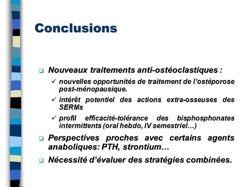 Conclusions Nouveaux traitements anti-ostéoclastiques : Nouveaux traitements anti-ostéoclastiques : nouvelles opportunités de traitement de lostéporos