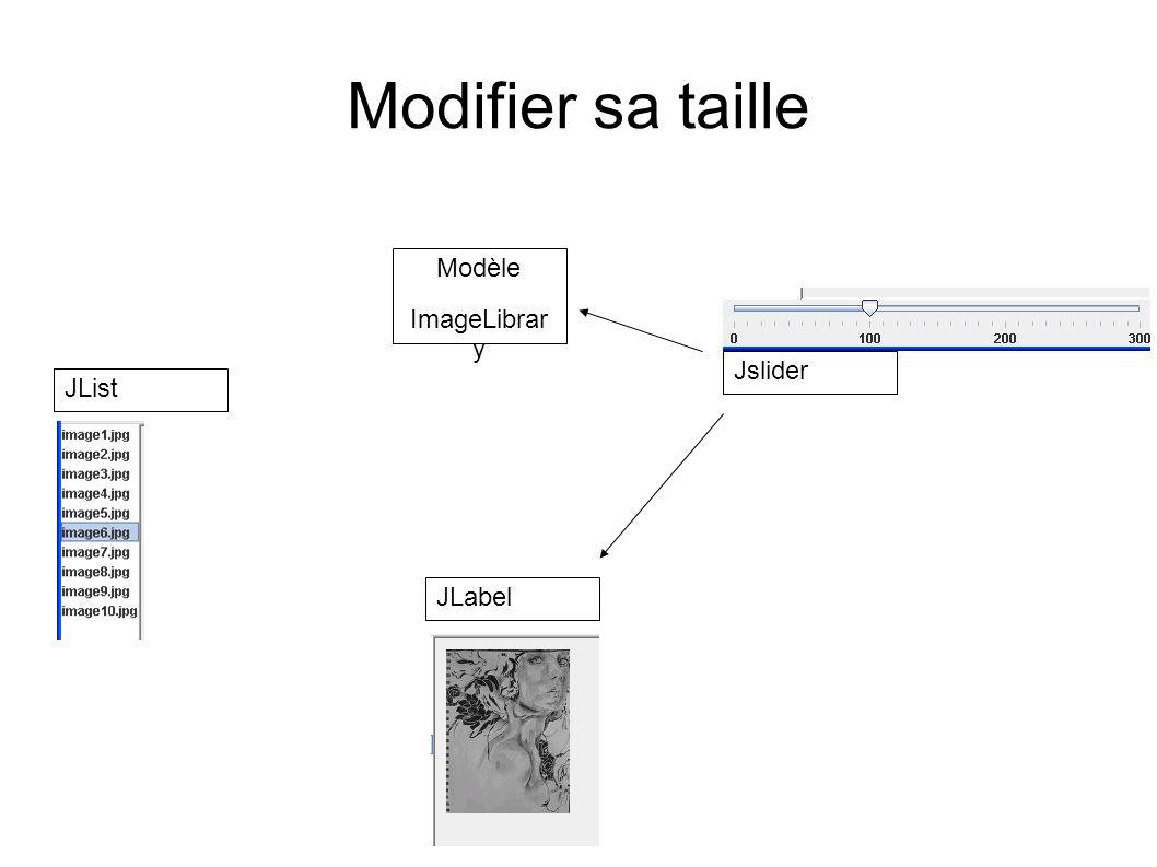 Bilan Modèle indépendant Utilisation des classes natives de Swing Passage par des adaptateurs de types Objets simples (1 méthode) Deux interfaces Gèrent le dialogue Transforme les types