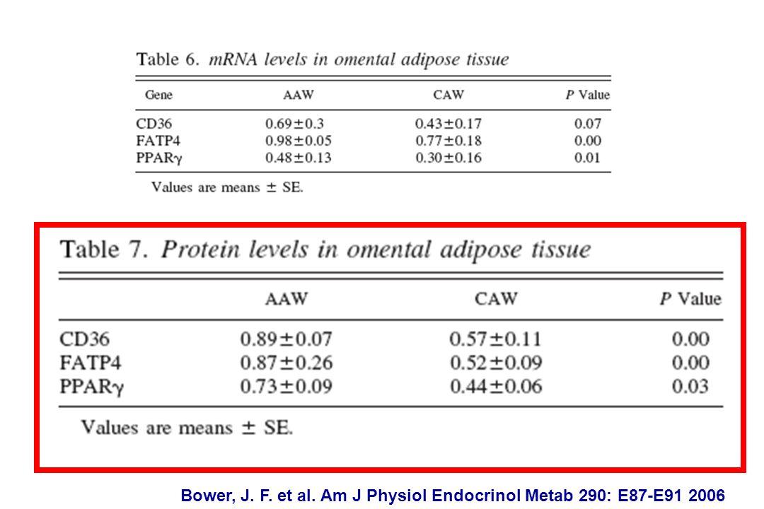 Bower, J. F. et al. Am J Physiol Endocrinol Metab 290: E87-E91 2006