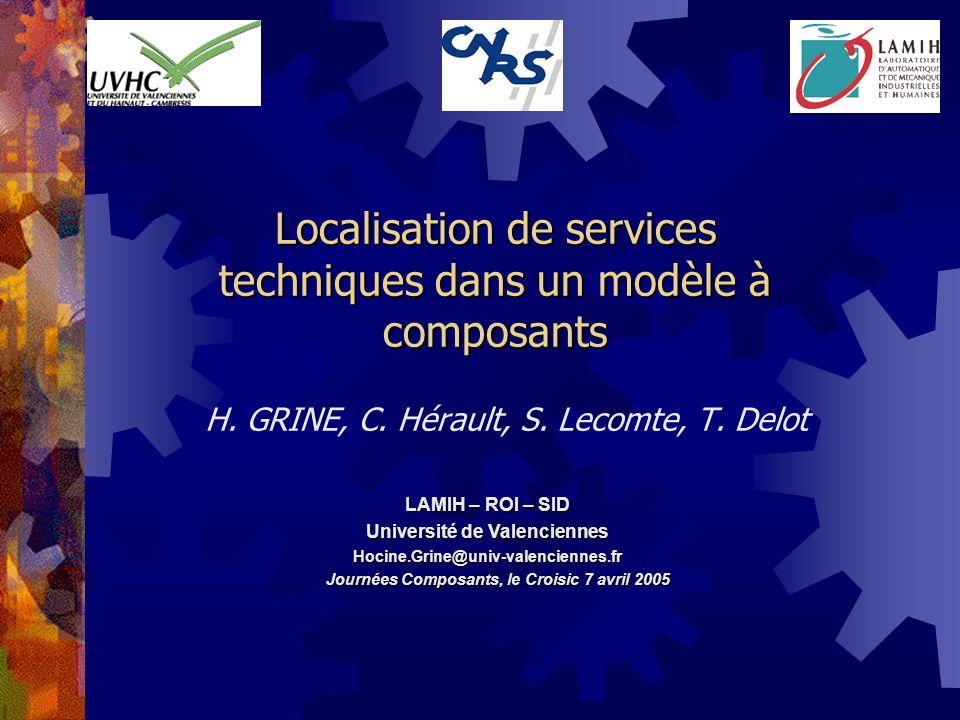Localisation de services techniques dans un modèle à composants H.