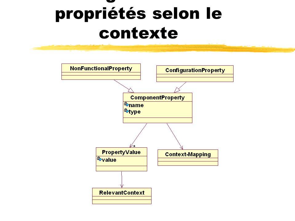 Configuration des propriétés selon le contexte