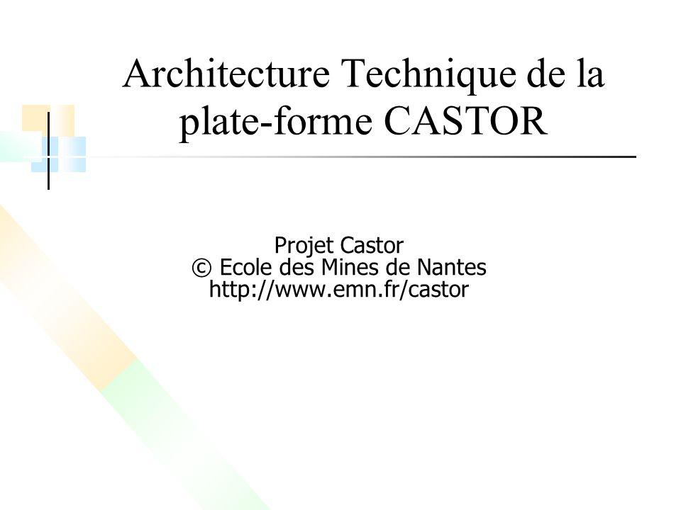 Architecture Technique de la plate-forme CASTOR Projet Castor © Ecole des Mines de Nantes http://www.emn.fr/castor