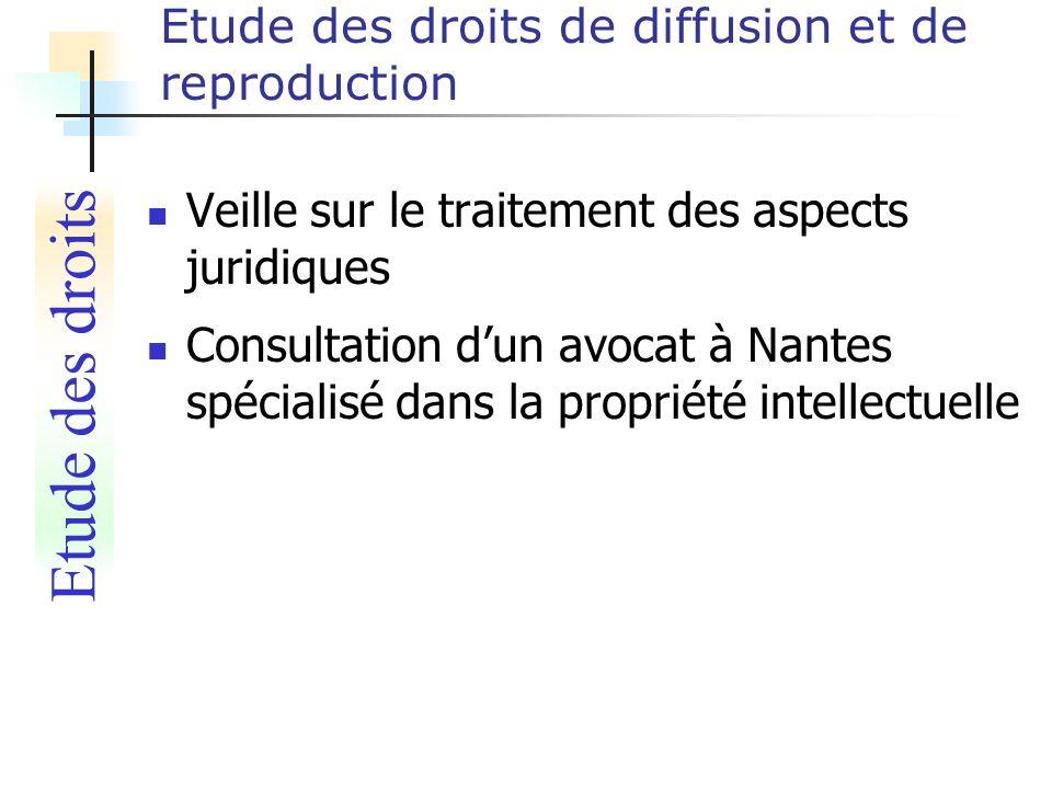 Etude des droits de diffusion et de reproduction Veille sur le traitement des aspects juridiques Consultation dun avocat à Nantes spécialisé dans la p