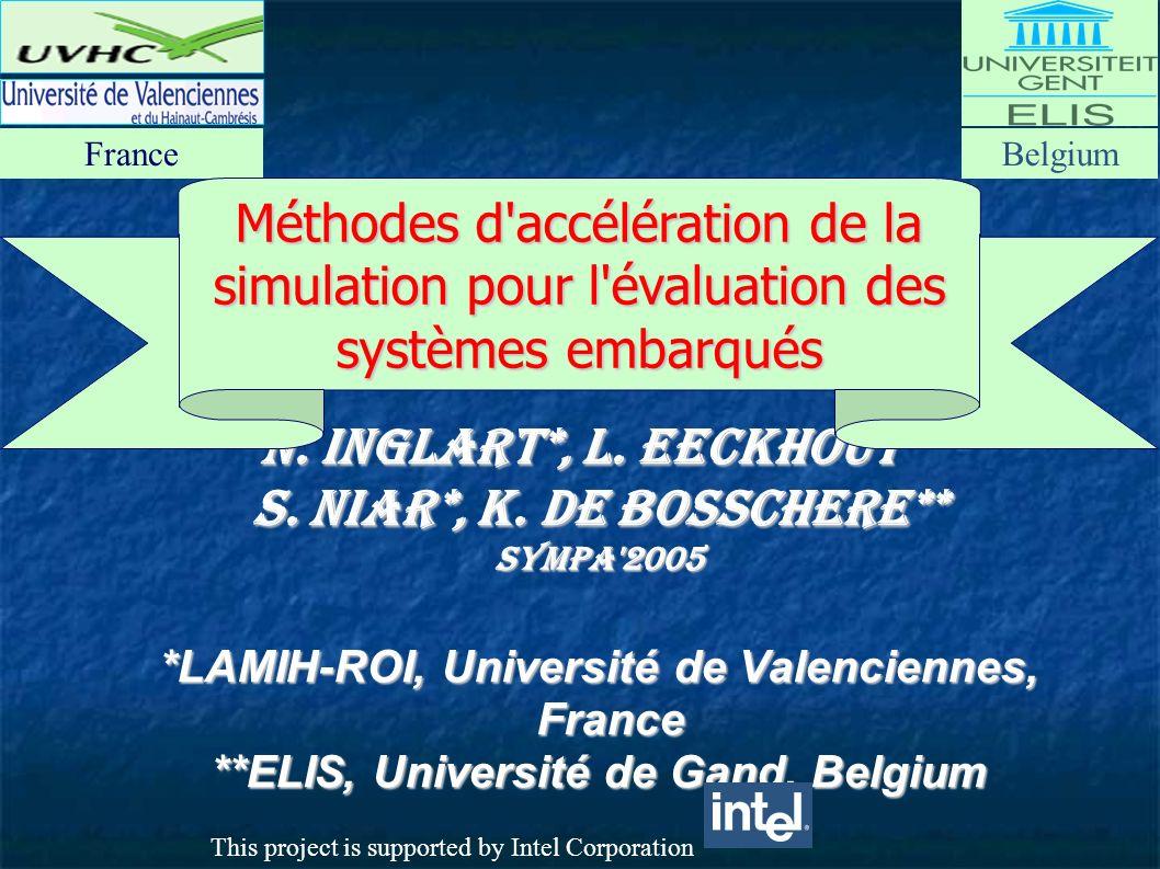 N. Inglart*, L. Eeckhout** S. Niar*, K.