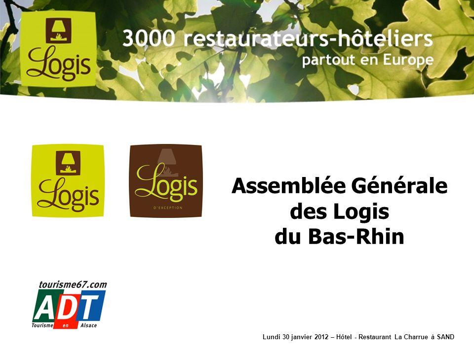 1ère Association sur 92 nombres dadhérents 71 (77 en 2011) 1 hôtel Logis dexception 34 hôtels 3 cheminées (33) 30 hôtels 2 cheminées (33) 6 hôtels 1 cheminée (10) Mouvement des Adhérents