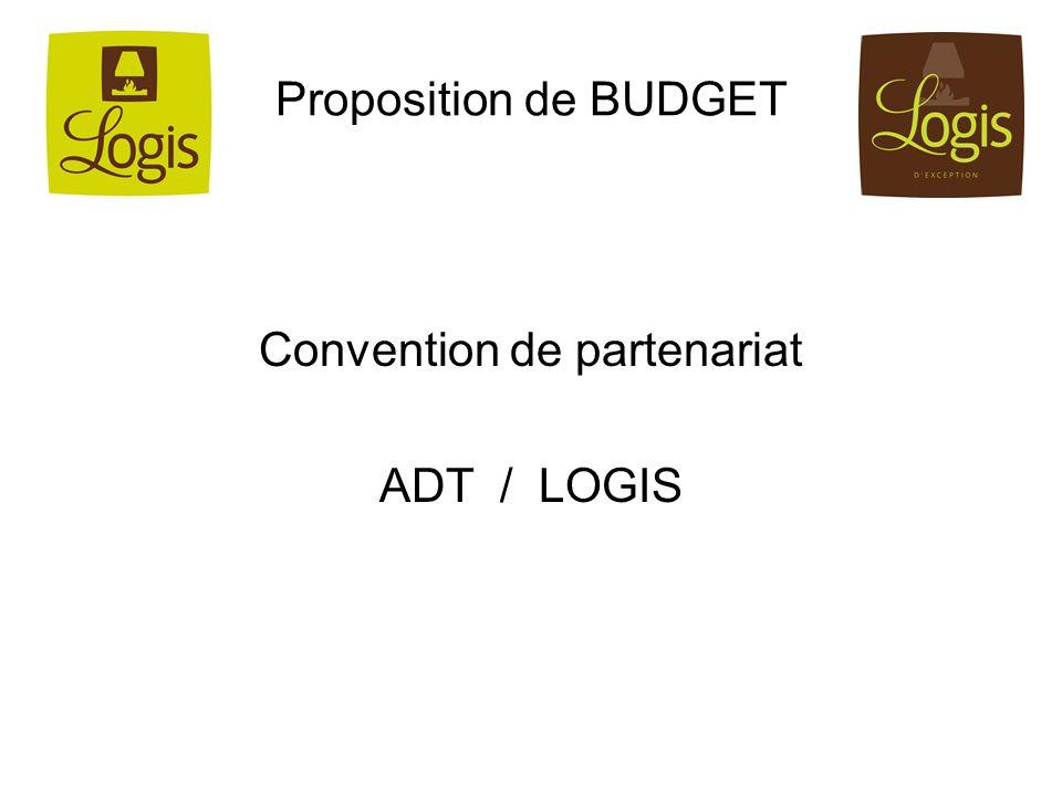 Proposition de BUDGET Convention de partenariat ADT / LOGIS