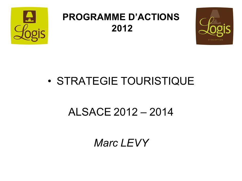 PROGRAMME DACTIONS 2012 STRATEGIE TOURISTIQUE ALSACE 2012 – 2014 Marc LEVY