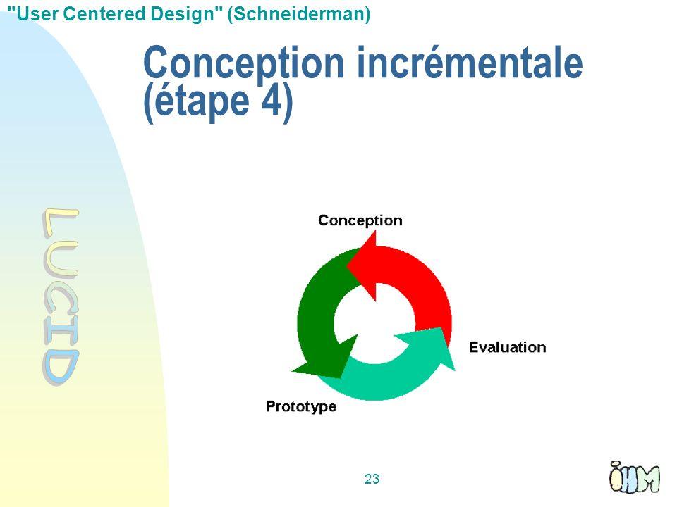 23 Conception incrémentale (étape 4)