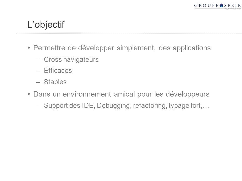 Support des CSS Tous les composants GWT supportent nativement les CSS