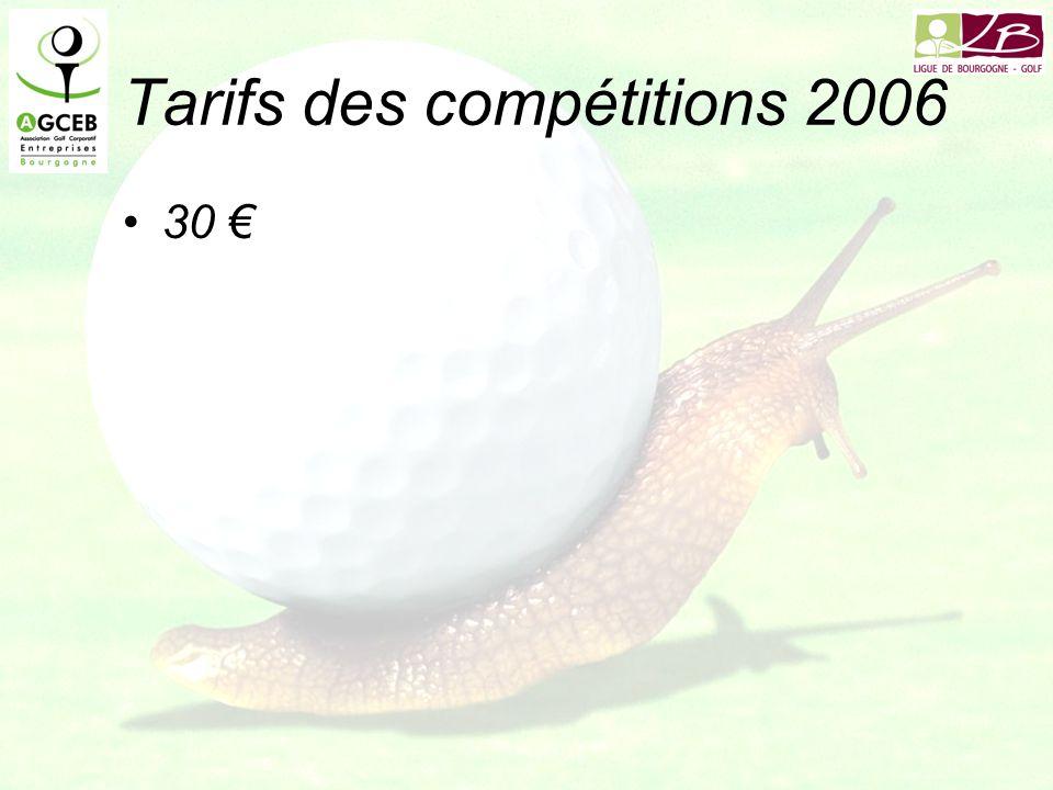 Tarifs des compétitions 2006 30