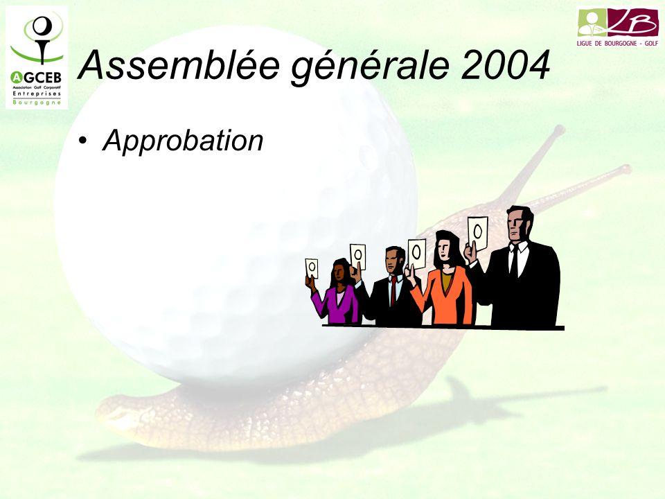 Assemblée générale 2004 Approbation