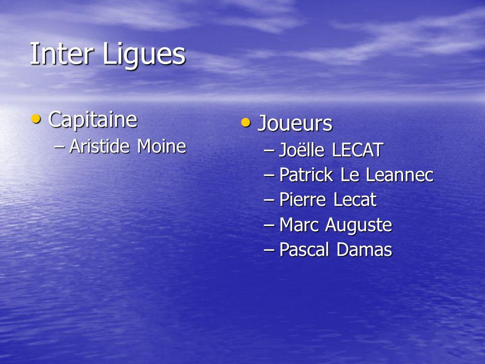 Inter Ligues Capitaine Capitaine –Aristide Moine Joueurs Joueurs –Joëlle LECAT –Patrick Le Leannec –Pierre Lecat –Marc Auguste –Pascal Damas