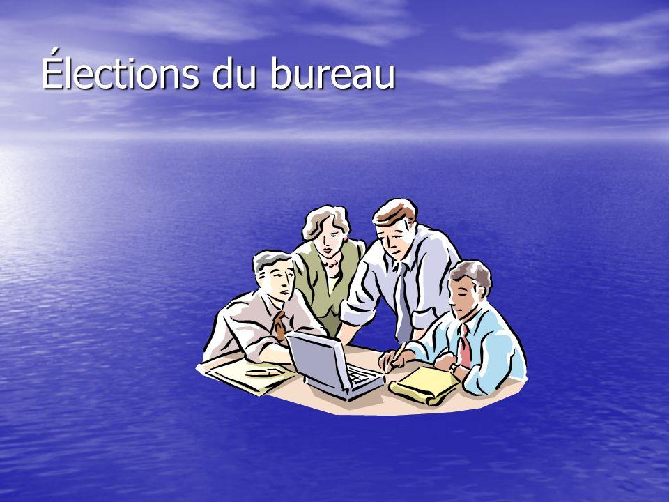 Élections du bureau