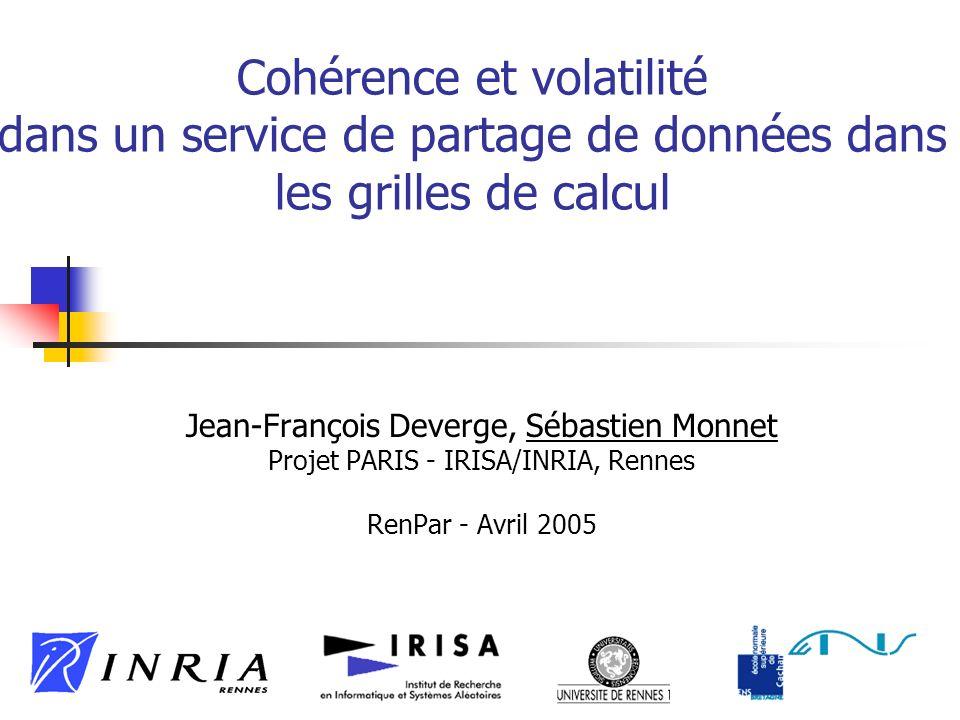 2 Contexte : grille de calcul Architecture visée : fédérations de grappes (ex.
